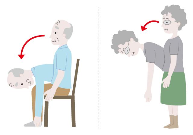 腰痛改善のおじぎ体操