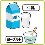牛乳、ヨーグルト
