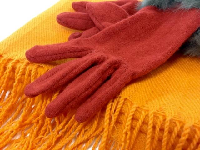 マフラー、手袋